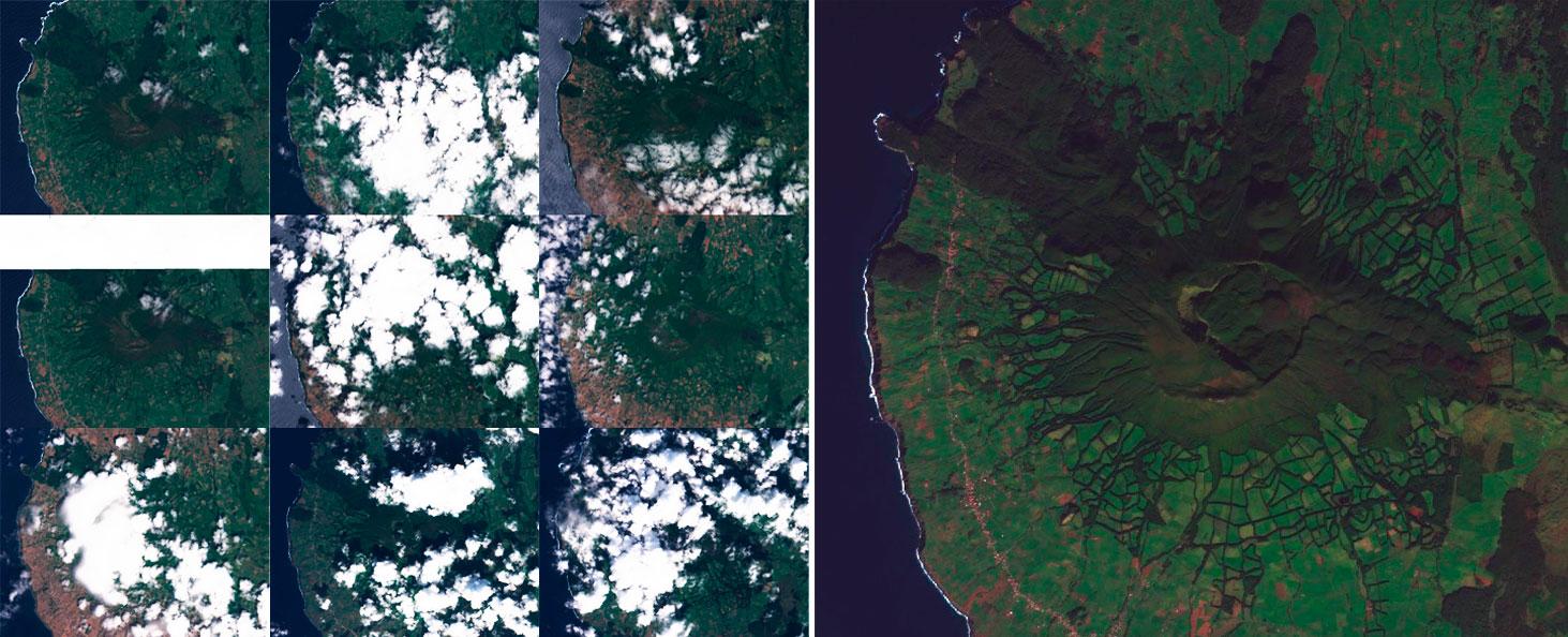 Unión de imágenes satélite