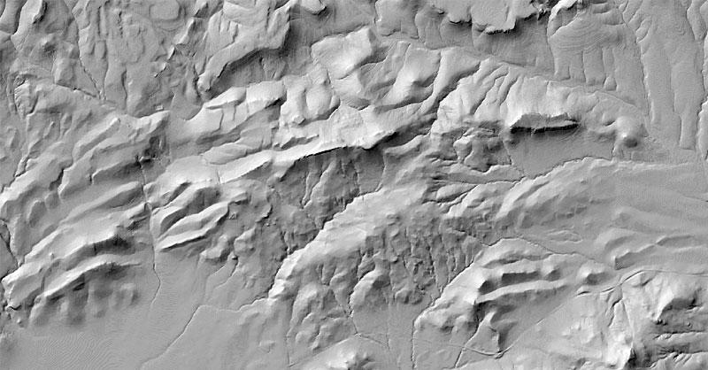 Creación de mapas de sombras hillshade