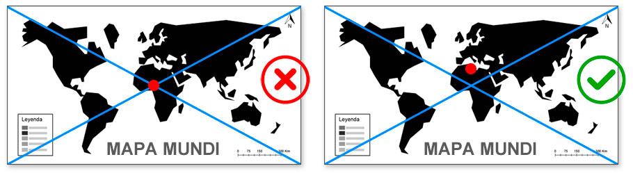 Punto medio de un mapa
