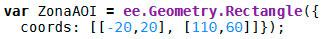 Definir coordenadas en GEE