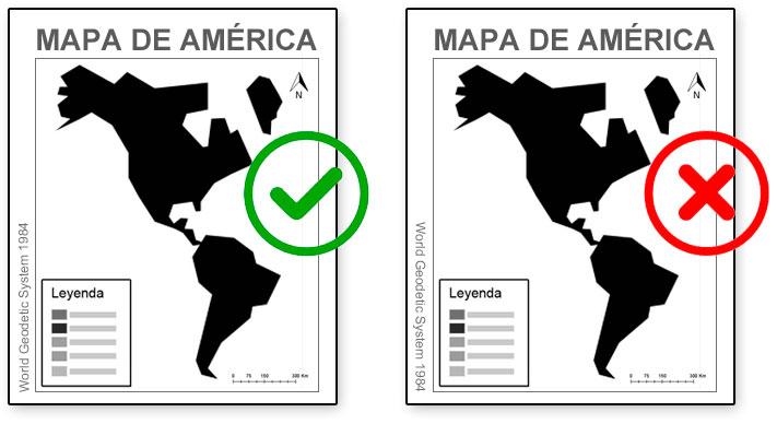Dirección de etiquetas en un mapa