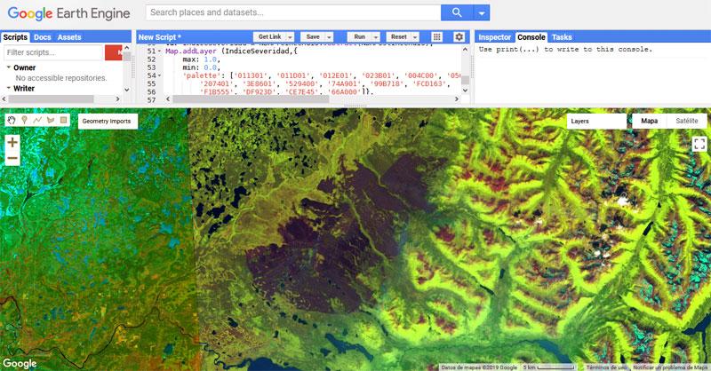 Análisis de severidad de incendios con Google Earth Engine
