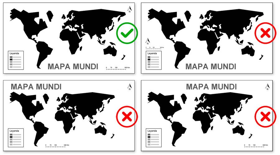 Posición de elementos en un mapa