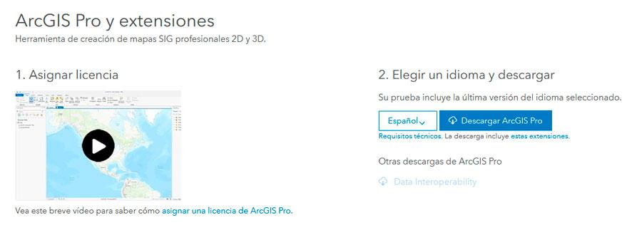 Descargar ArcGIS Pro Trial