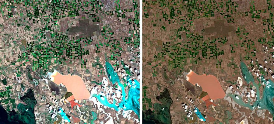 Comparativa de imágenes satelite