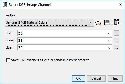 RGB para imágenes satélite en SNAP