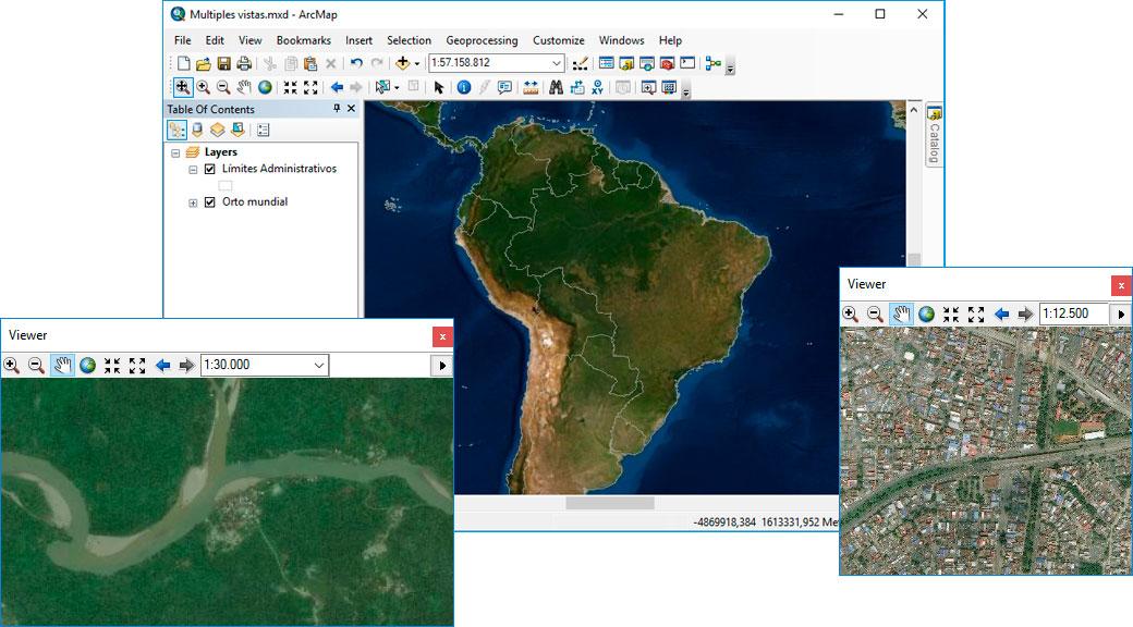 Multiples vistas en mapas para ArcGIS