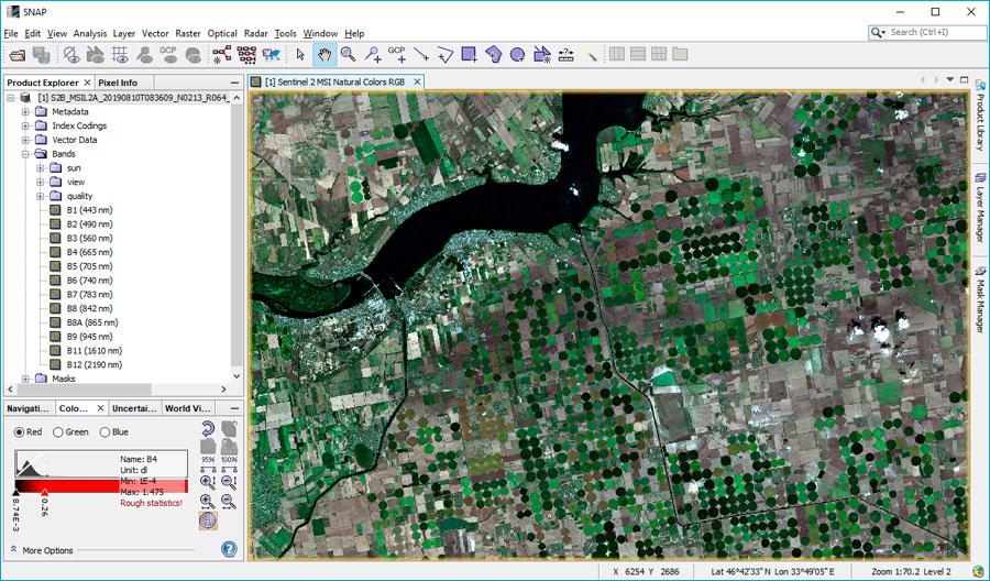 Análisis de imágenes satelite con software SNAP