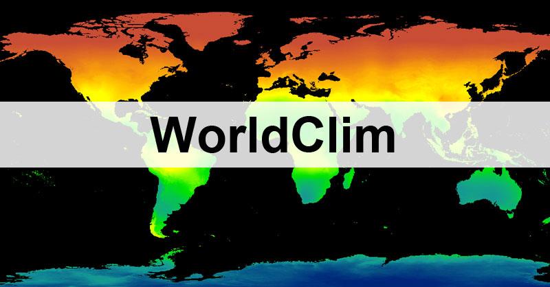 WorldClim para modelización de distribución de especies