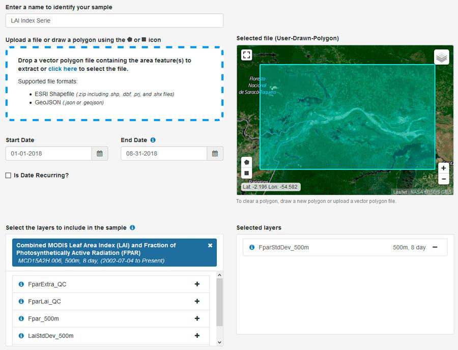 Análisis de datos temporales satélite con timelapses