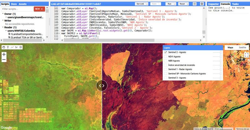 Comparativa de imágenes del Amazonas tras los incendios