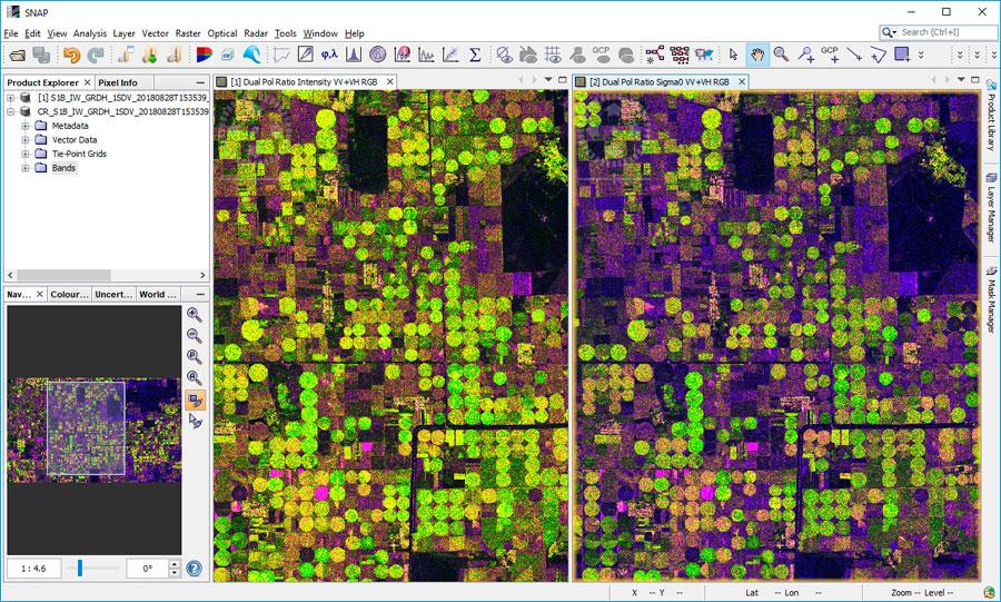 Corrección radiométrica de imágenes satélite SAR