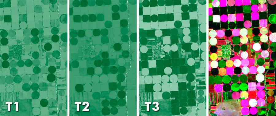 NDVI multitemporal para análisis de cambios de usos del suelo