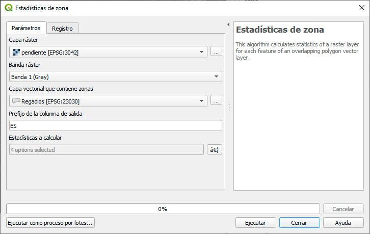 Cálculo de estadísticas zonales en QGIS