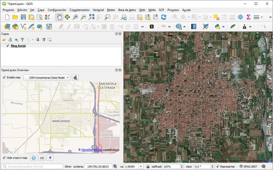 OpenLayers: el plugin para mapas base en QGIS