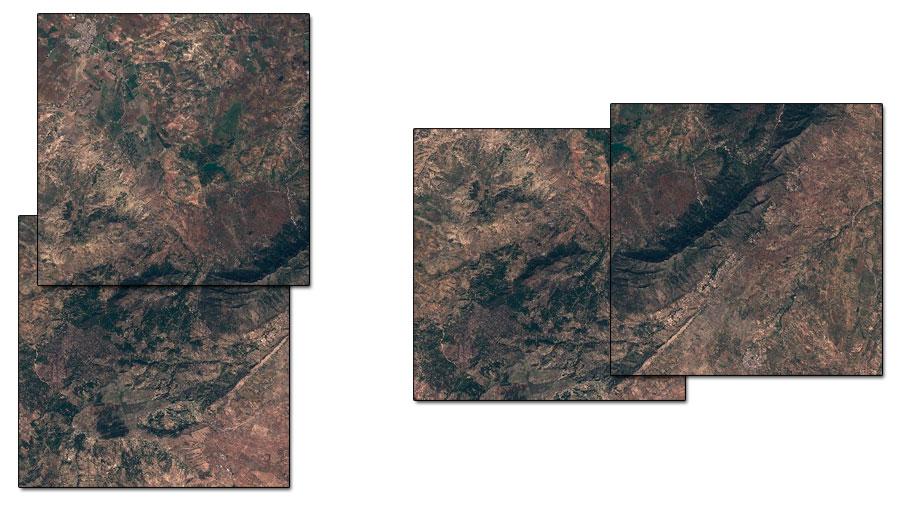 Creación de mosaicos de imágenes satelitales