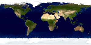 The Blue Marble Land Surface Ocean Color and Sea Ice