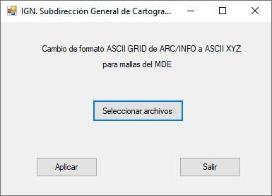 Conversor de formato ASCII a XYZ