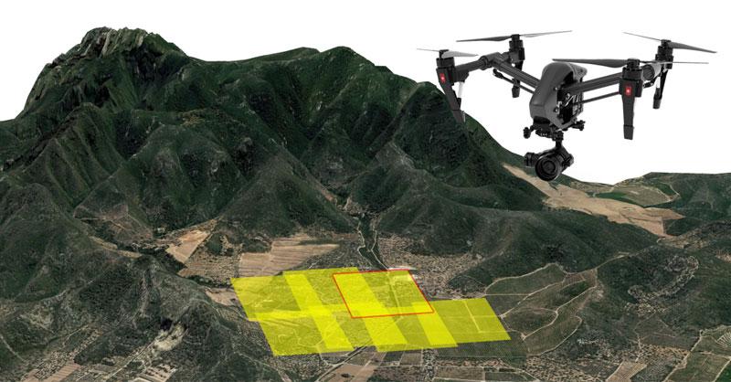 Parametrización del plan de vuelo de drones