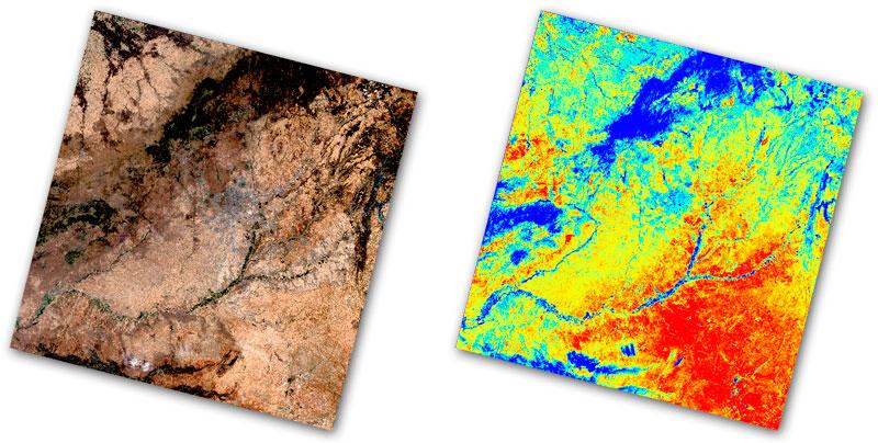 Cálculo de temperatura superficial LST con Landsat 8