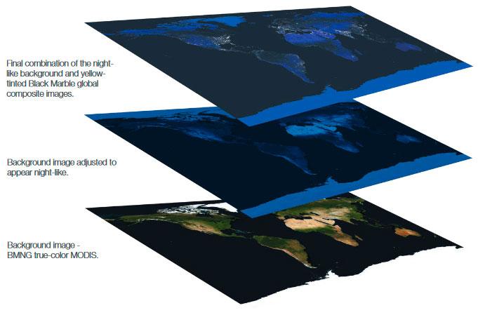 Cómo generar imágenes nocturnas de la Tierra