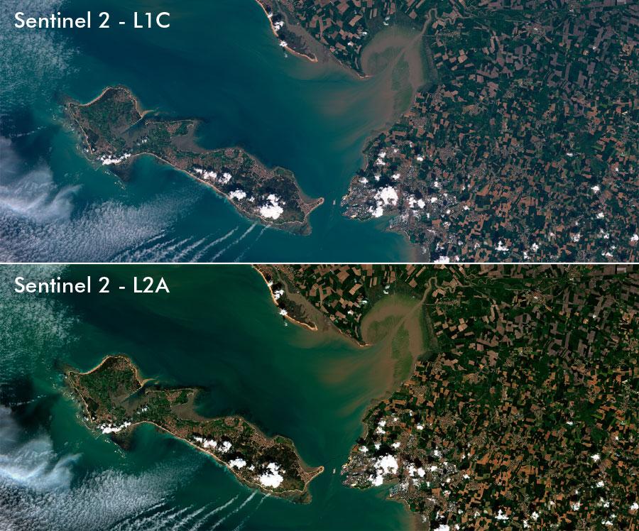 Corrección atmosférica de imágenes del satélite Sentinel 2