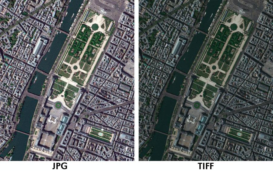Profundidad de pixel en calidad cartográfica