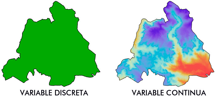 Álgebra de mapas: variable contínua y variable discreta