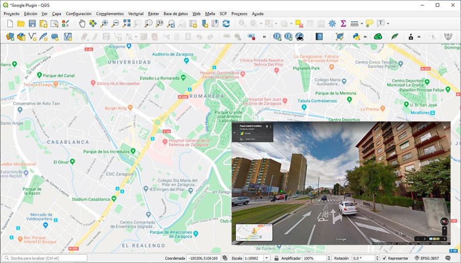 Integrar mapas de StreetView en QGIS