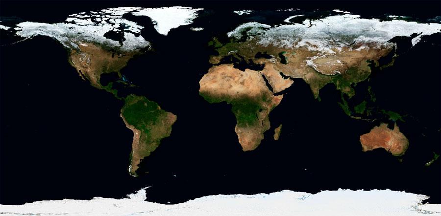 WMS mapa base Blue Marble NASA