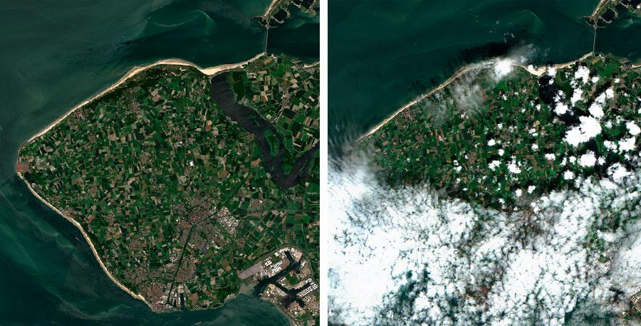 Imagenes satélite sin nubes