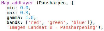 Pansharpening Google Earth Engine