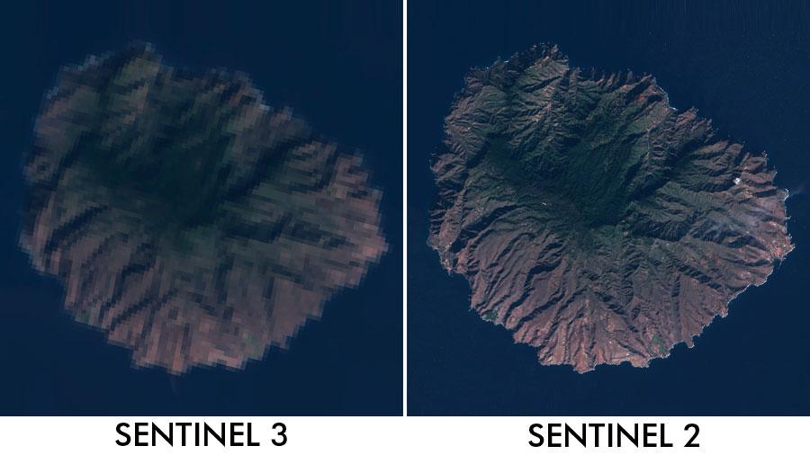 Resolucion de pixel de imagenes satelitales