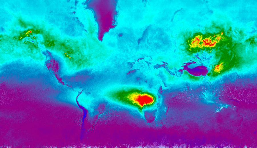 Seguimiento atmosférico de contaminantes con TROPOMI