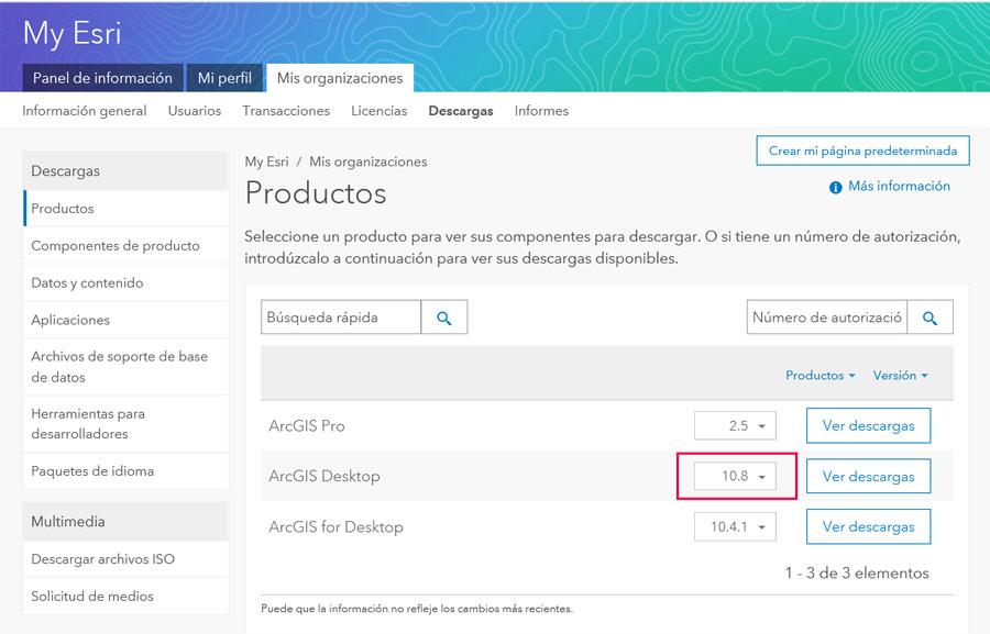 Cómo descargar ArcGIS 10.8