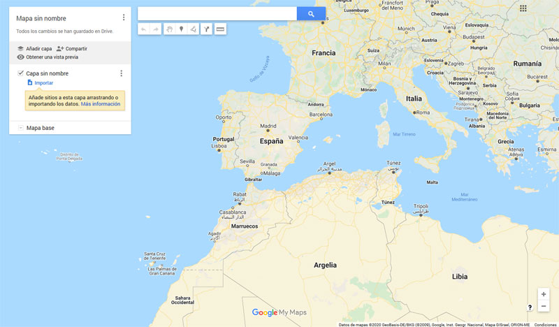 Cómo crear un mapa en Google Maps