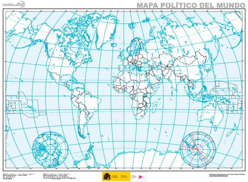 Descarga mapa político del mundo