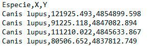 Estandarización de coordenadas CSV de distribución en MaxEnt