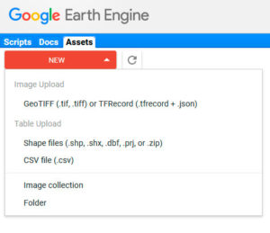 Importar archivos shapefile en Google Earth Engine