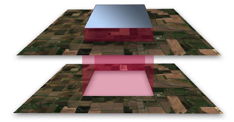 Clip inverso de imágenes satélite y MDT