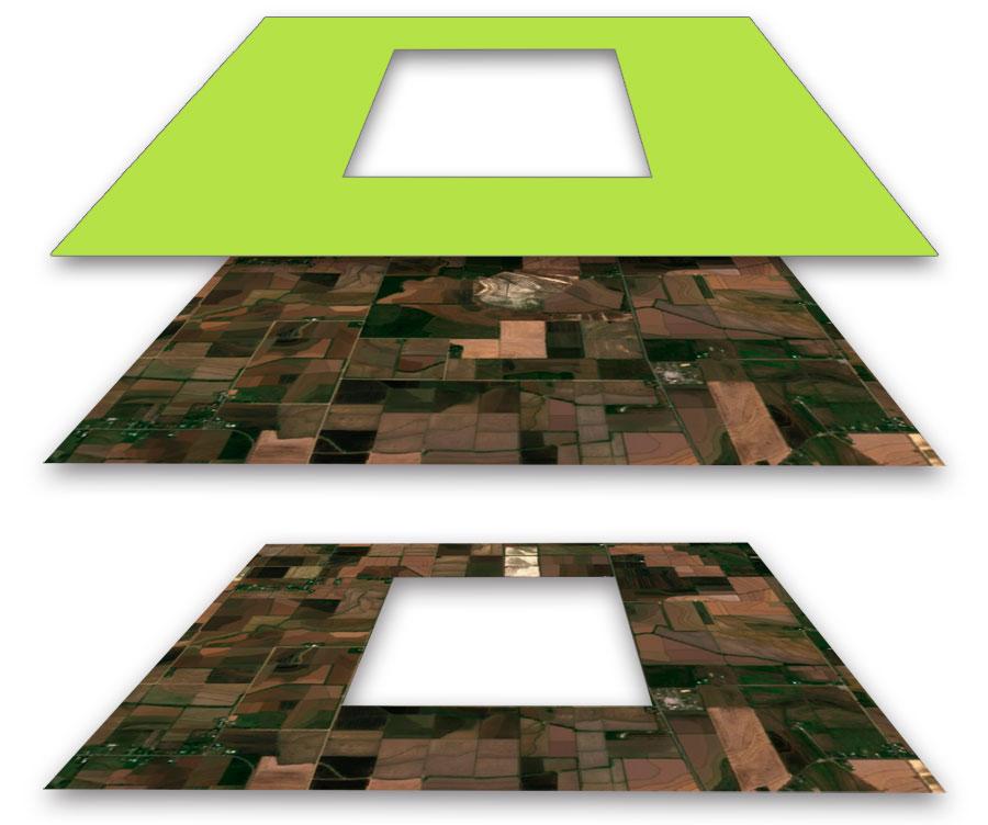 Polígono inverso y ráster inverso en GIS
