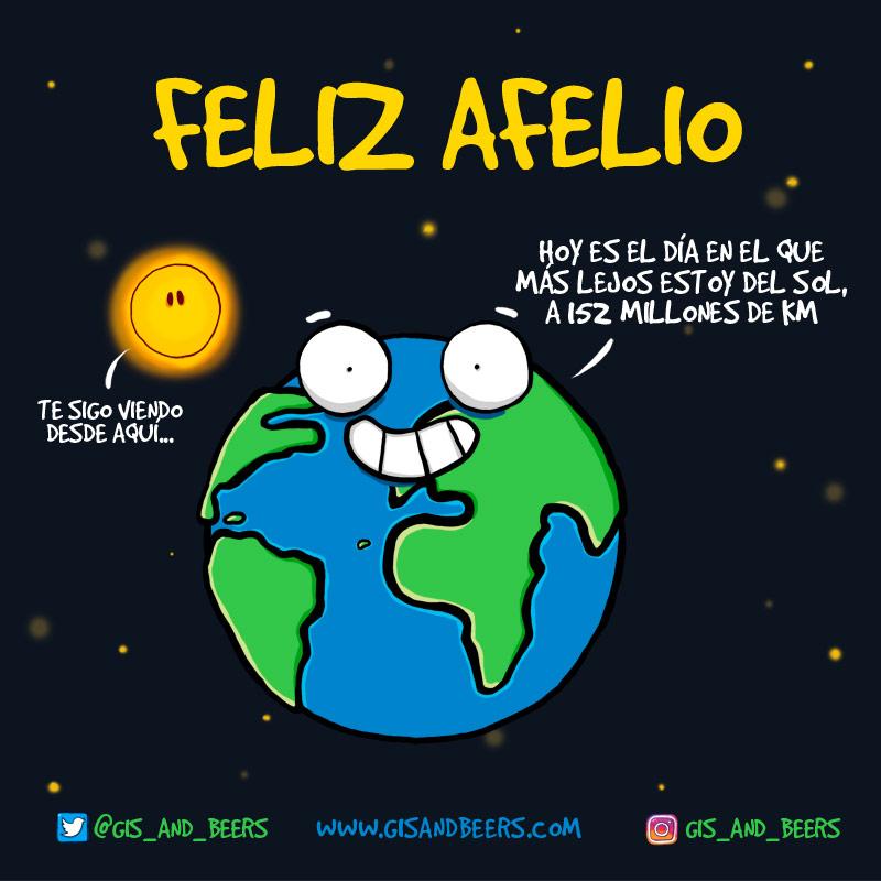 Afelio, máxima distancia de la Tierra respecto del Sol