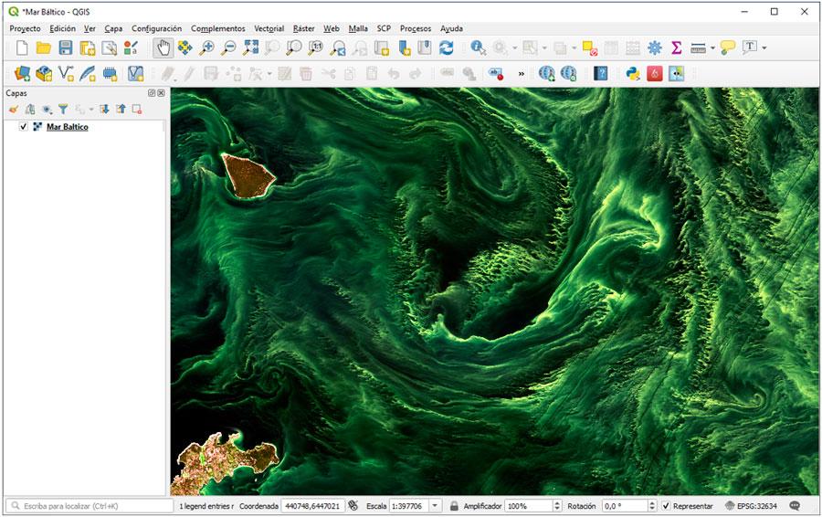 Bloom algae en QGIS