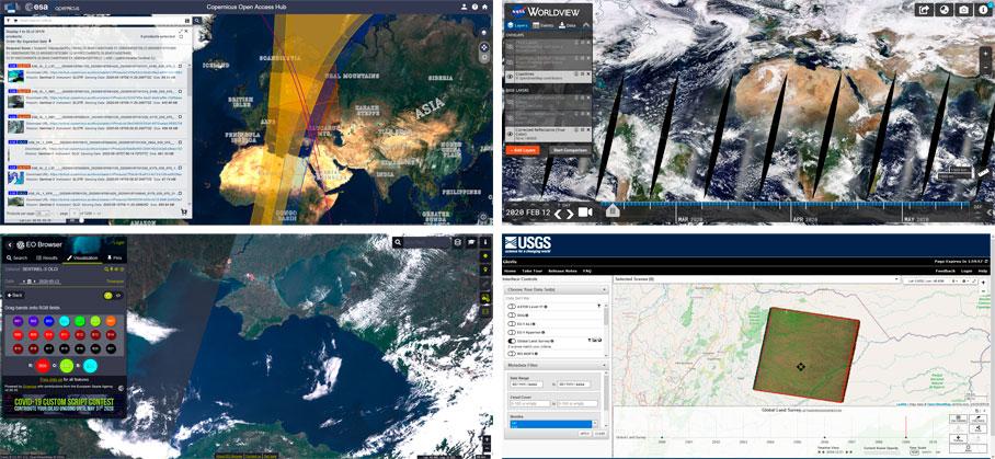 Plataformas de descarga de imágenes satélite