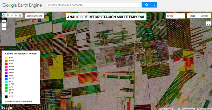 Análisis de deforestación en Google Earth Engine con datos rádar