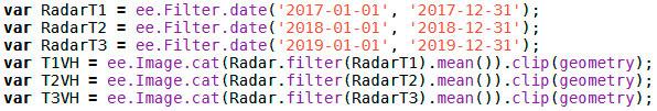 Analisis temporal de datos radar