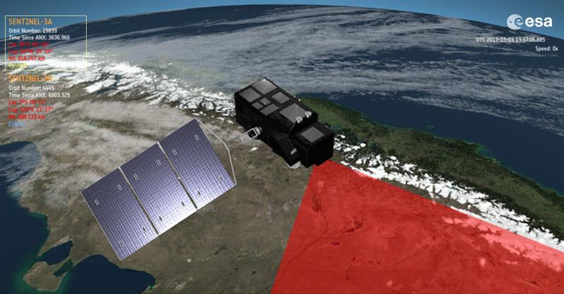SAMI para animaciones satélite 3D y mapeo en tiempo real