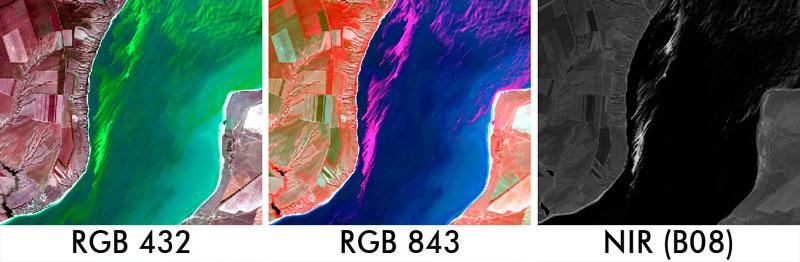 filtros RGB para identificación de algas