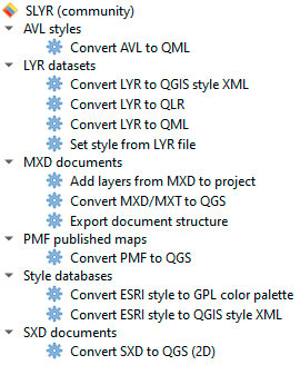 Convertir LYR en QGIS