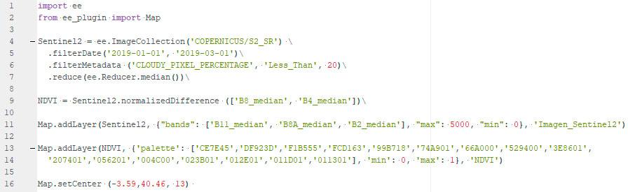 Codigo Python para análisis de imágenes satélite